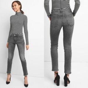 NEW Gap 1969 High Rise Slim Straight Black Jeans